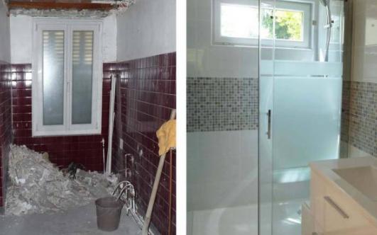 rénovation de salle de bain cabine de douche intégrale